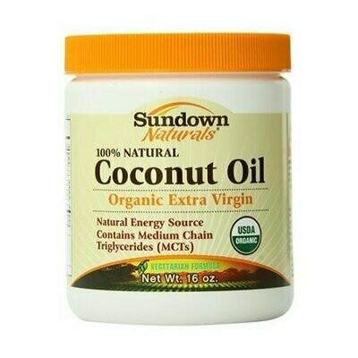 Sundown 100% Natural Organic Extra Virgin Coconut Oil - 16 Oz