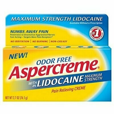 ASPERCREME Maximum Strength Lidocaine Pain Relieving Creme 2.7 oz