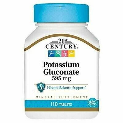 21st Century Potassium 595 mg Tablets, 110-Count