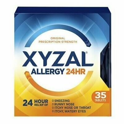 Xyzal Allergy 24 Hour Relief Of Tablets, 35 Each
