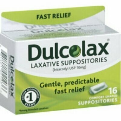 Dulcolax Suppositories 16 Each