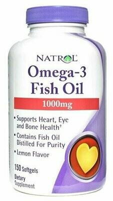 Natrol Omega 3 1000Mg 150 Softgels