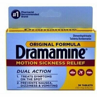 Dramamine Original Formula Tablets 36 each