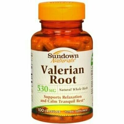 Sundown Valerian Root 530 Mg 100 Capsules