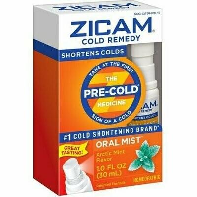 Zicam Cold Remedy Oral Mist, Arctic Mint 1 oz