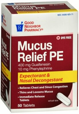 GNP MUCUS RELIEF TAB 50 CT