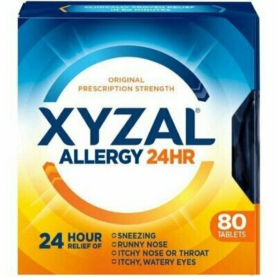 Xyzal 24 Hour Allergy Relief Tablets 80 each