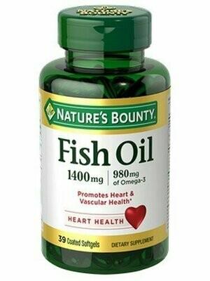 Nature's Bounty Fish Oil 1400 mg Omega-3 Softgels 39 each