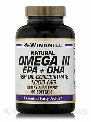 Windmill Omega 3 Fish Oil 1,000 mg Softgels, 90 ct