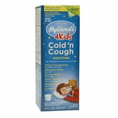 Hyland's Hylands Night Time Cold and Cough, 4 oz