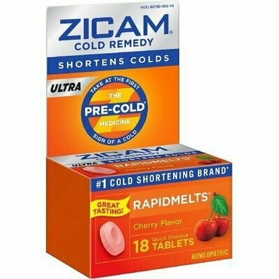 Zicam Ultra Cold Remedy RapidMelts, Cherry 18 each