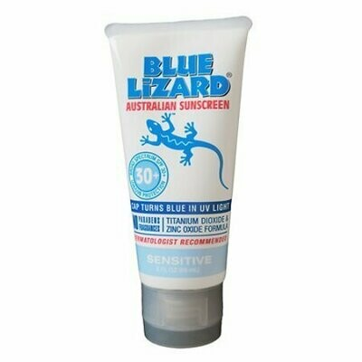 Blue Lizard Sunscreen Sensitive, SPF 30+ For Skin Gel, 3 oz