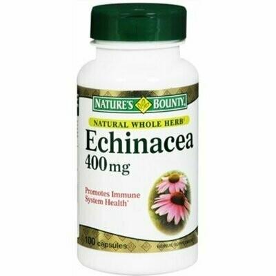 Nature's Bounty Echinacea 400 mg Capsules 100 each