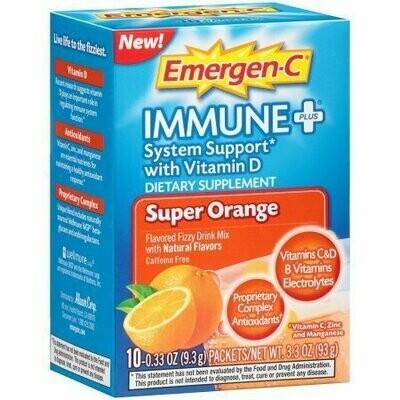 Emergen-C Immune + System Support, Super Orange 10 each