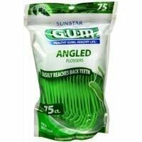 GUM Angled Flossers Fresh Mint 75 Each
