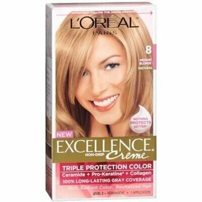 L'Oreal Excellence Creme, Blonde 8 Medium, 1 Each