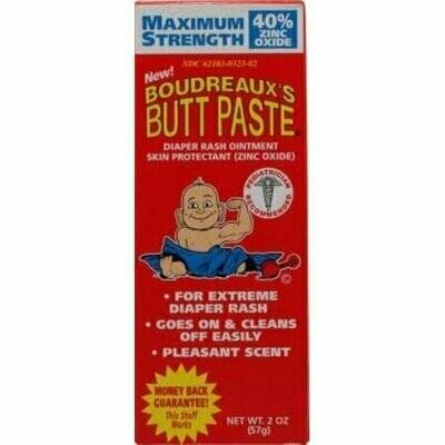 Boudreaux's Maximum Strength Butt Paste Diaper Rash Ointment 2 oz
