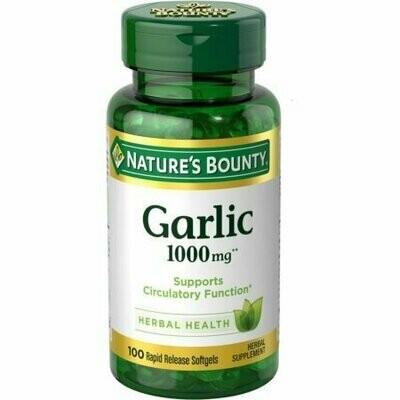 Nature's Bounty Garlic 1000 Mg Softgels 100 each