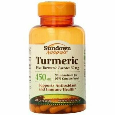 Sundown Naturals Turmeric 450 mg Capsules 90 each