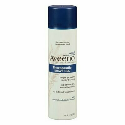 Aveeno Active Naturals Therapeutic Shave Gel with Natural Colloidal Oatmeal, 7 Oz