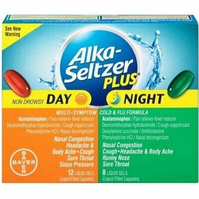 Alka-Seltzer Plus Day & Night Cold Formulas Liquid Gels, 20 each