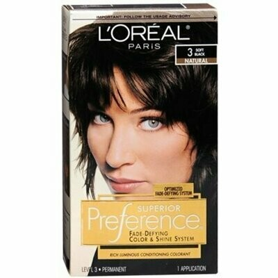 L'Oreal Superior Preference - 3 Soft Black (Natural) 1 Each