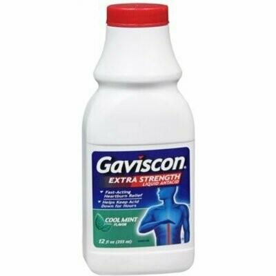 Gaviscon Liquid Extra Strength Cool Mint Flavor 12 oz