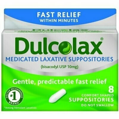 Dulcolax Laxative Suppositories 8 each