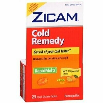 Zicam Cold Remedy RapidMelts with Vitamin C Citrus 25 Each