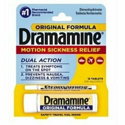 Dramamine Motion Sickness Relief, Original Formula, Tablets 12 each