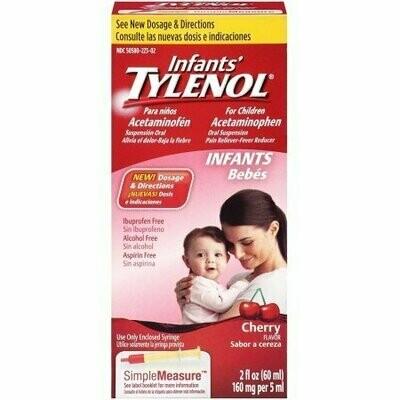 TYLENOL Infants' Acetaminophen Oral Suspension, Cherry Flavor 2 oz