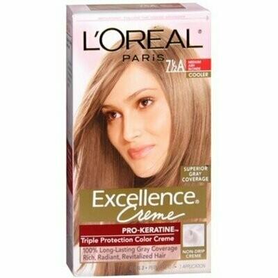 L'Oreal Excellence Creme - 7-1/2A Medium Ash Blonde (Cooler) 1 Each