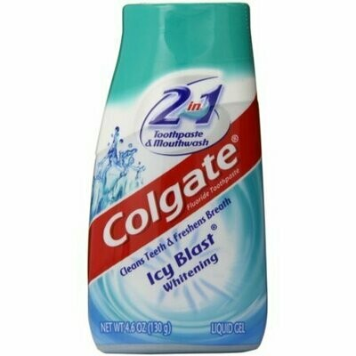 Colgate 2-in-1 Toothpaste and Mouthwash, Whitening, Icy Blast 4.60 oz