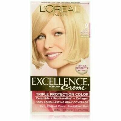 L'Oreal Paris Excellence Creme Haircolor, Light Natural Blonde [9] 1 each