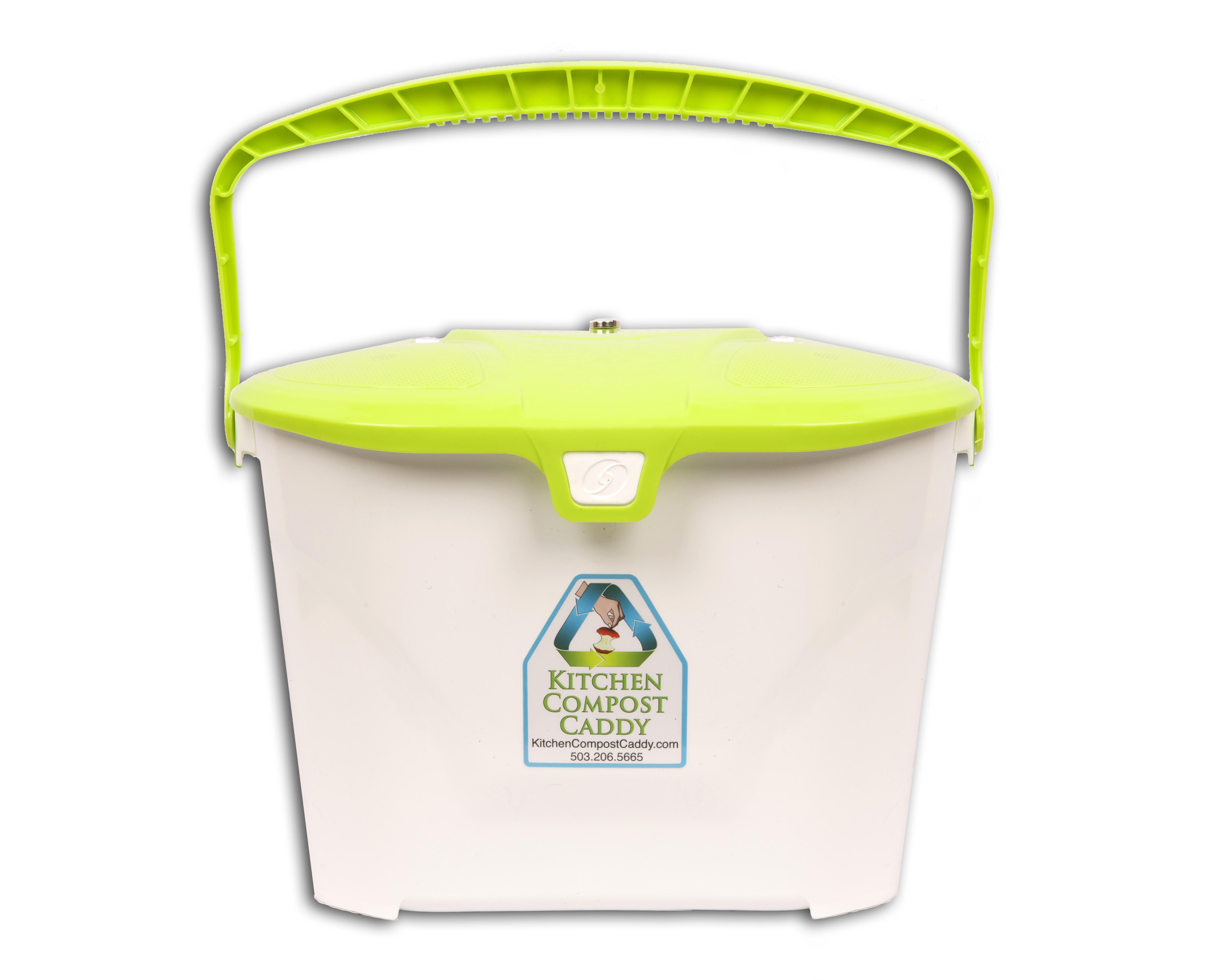 Kitchen Compost Caddy Vented Compost Pail With Activated Carbon Filters And  Magnetic Vented Lid (for Use With Kitchen Compost Caddy Cabinet Mounted  Rack)
