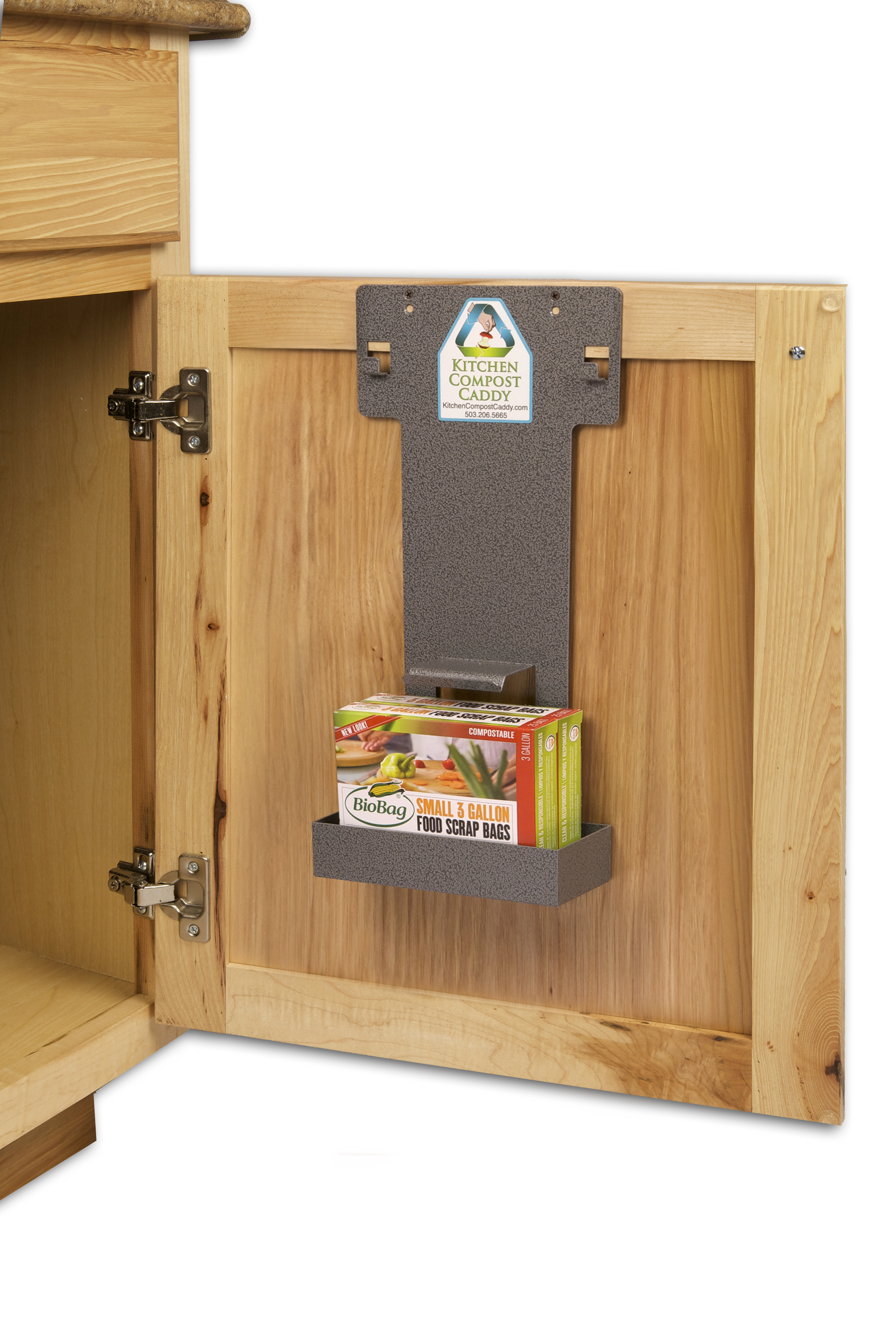Kitchen compost caddy cabinet mounted cabinet mounting for Beaverton kitchen cabinets reviews