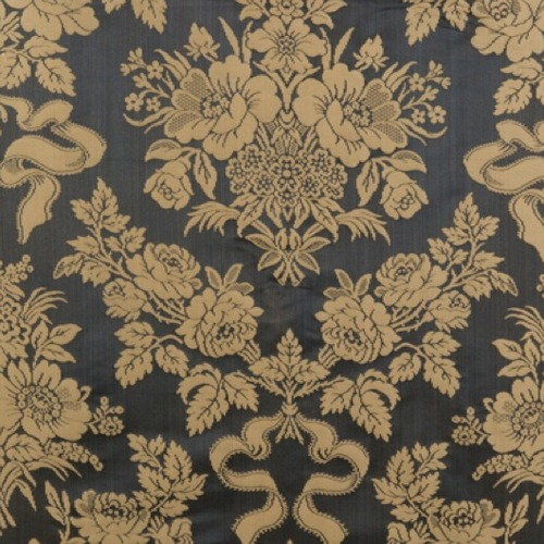 3 3 8 Yds Lee Jofa Silk Cotton Condotti Charcoal Antique Gold Damask