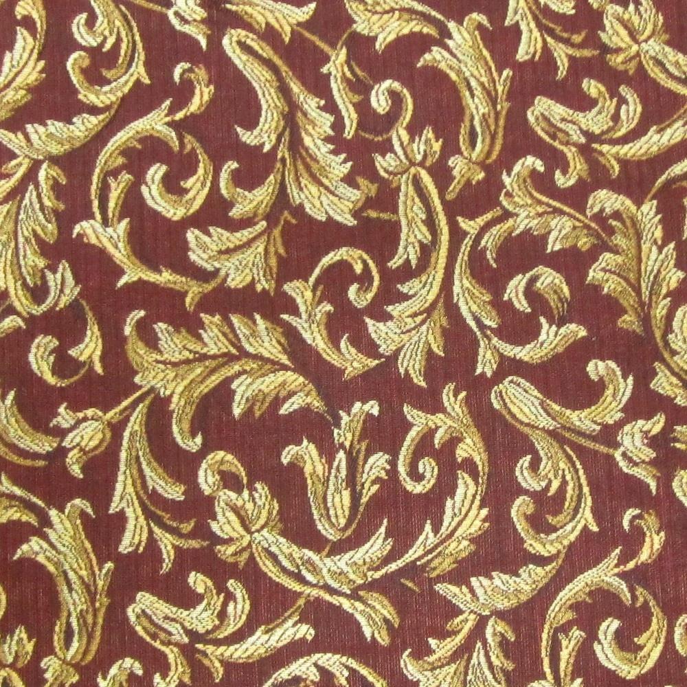 Yards impressive lee jofakravet burgundy gold acanthus scrollwork 11 yards impressive lee jofakravet burgundy gold acanthus scrollwork upholstery fabric nvjuhfo Choice Image