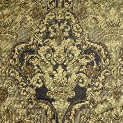 kravet victorian tapestry designer upholstery fabric in taupe ecru beige on black