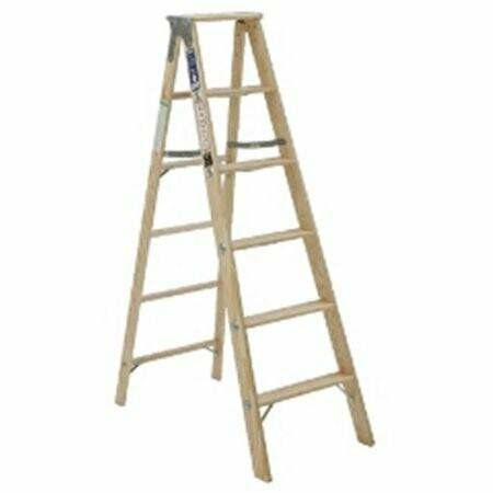 16' WOOD EXT LADDER W/2 8' SECTIONS AND PARALLEL RAILS