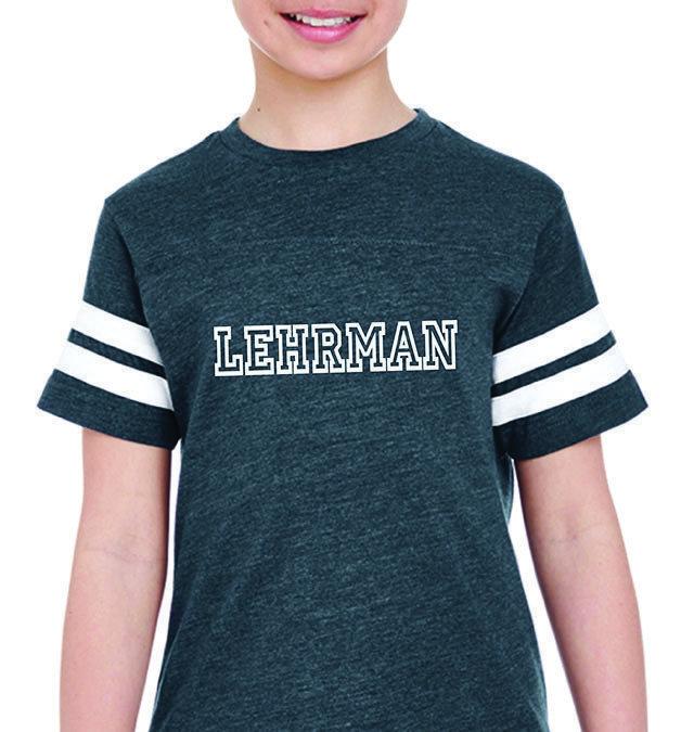 Lehrman Striped Sleeve Unisex T-Shirt YOUTH