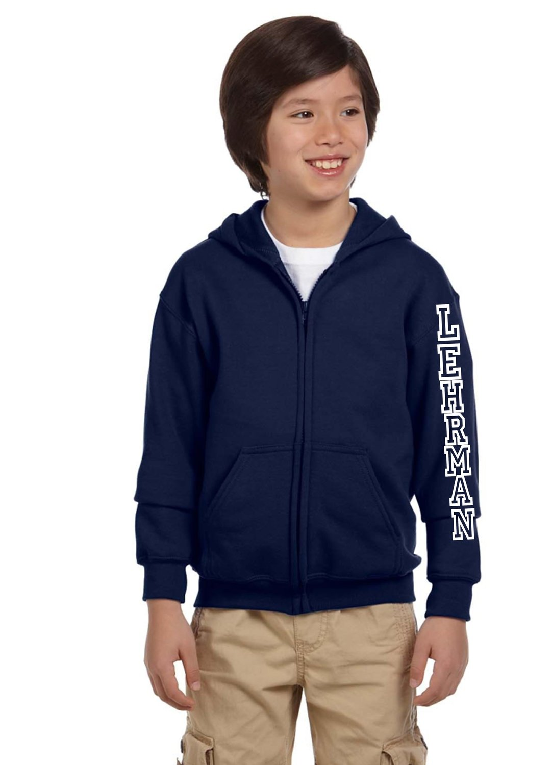 Lehrman Zip Front/Hood Sweatshirt Unisex YOUTH