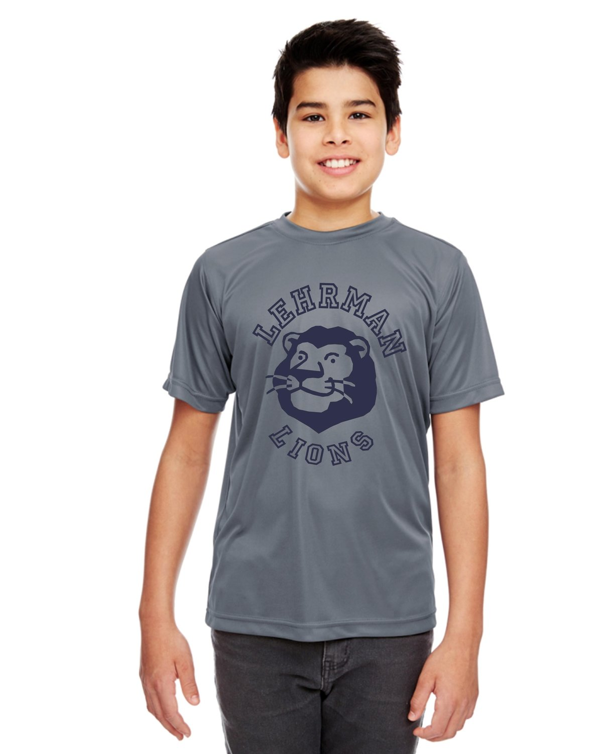 NEW! Dryfit Short Sleeve Unisex Grey Lion YOUTH