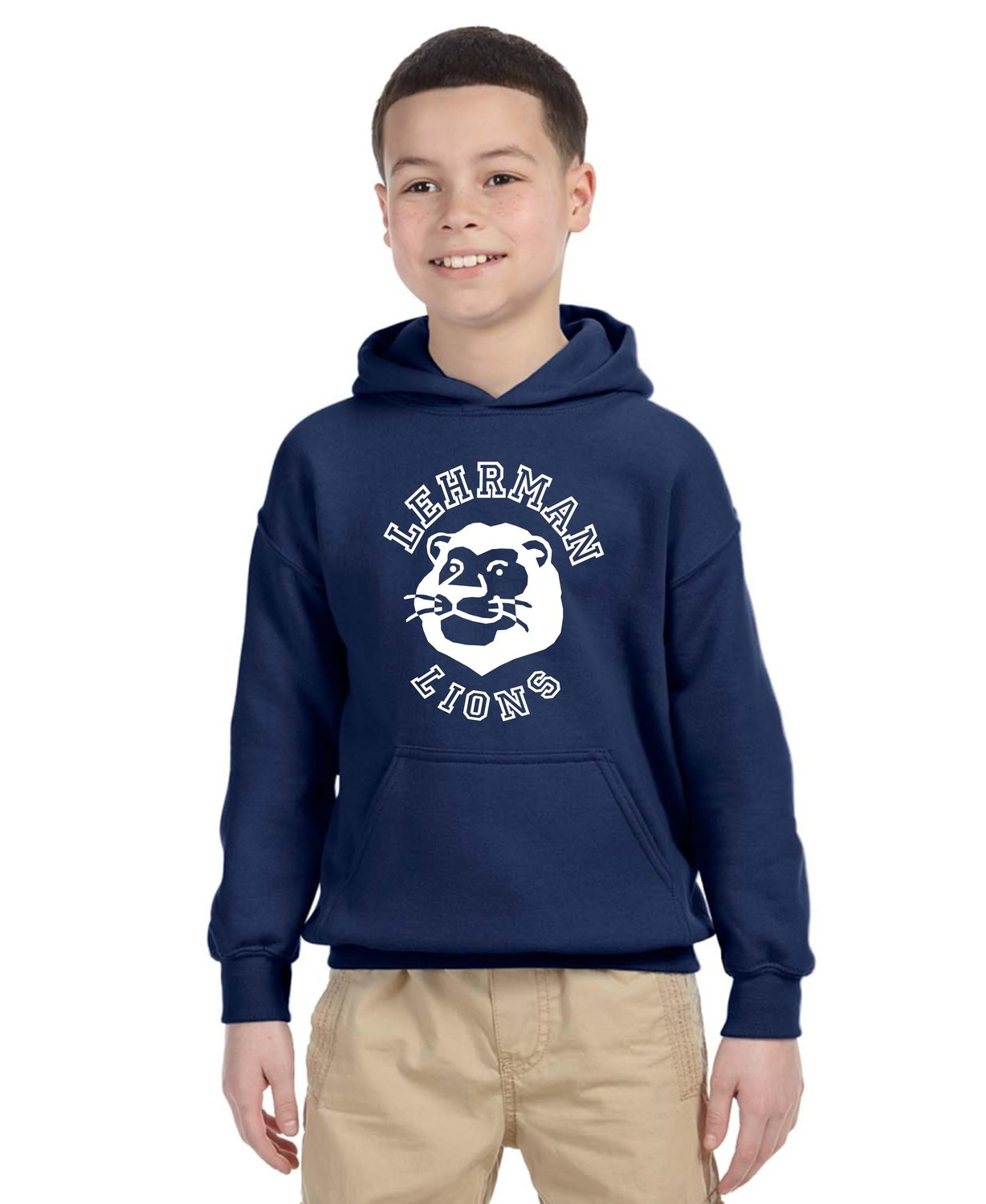 NEW! Hoodie Pull-over Unisex Lion YOUTH