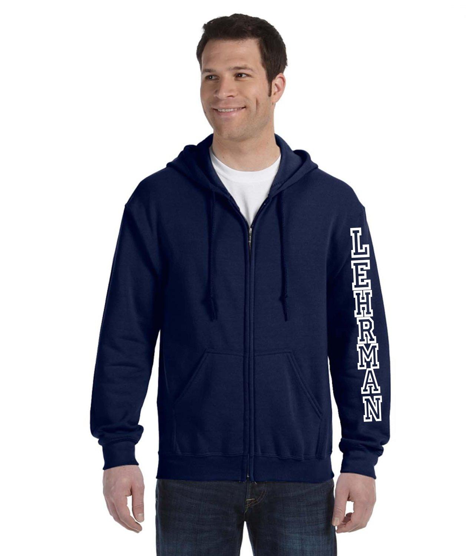Lehrman Zip Front/Hood Sweatshirt Unisex ADULT