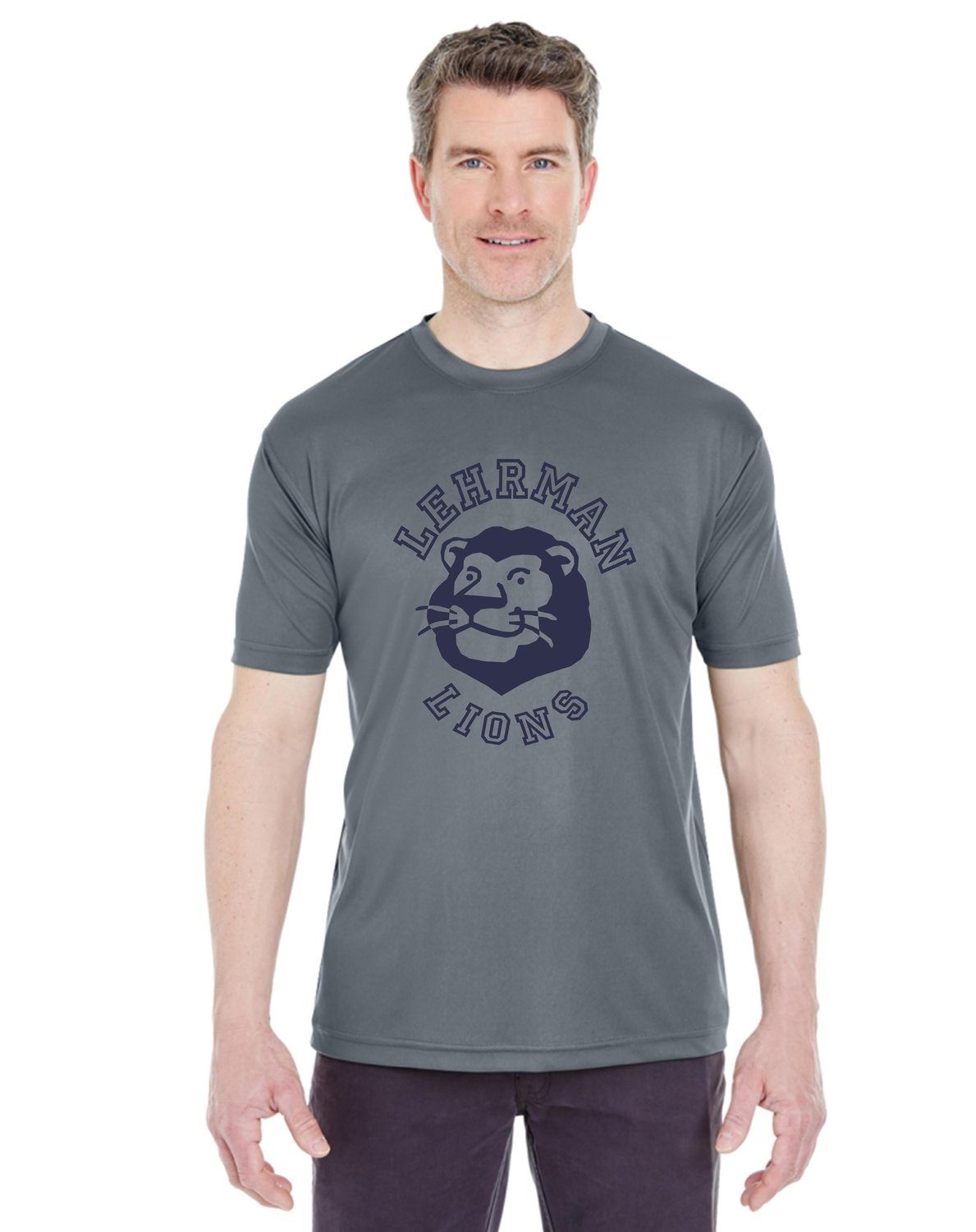 NEW! Dry Fit Short Sleeve Grey Lion ADULT