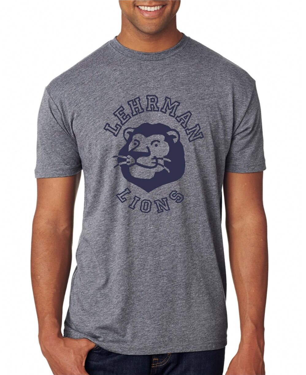 NEW! Soft T-shirt Grey Lion ADULT