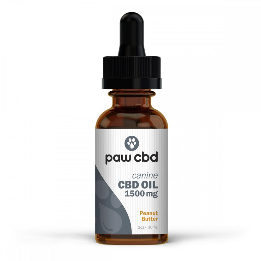 Pet CBD Oil 1500MG Peanut Butter - 30mL