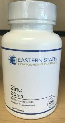 Zinc 20mg Tablets