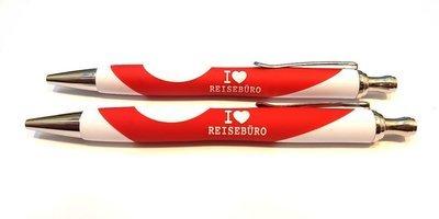 I LOVE REISEBÜRO Kugelschreiber (10 Stück)